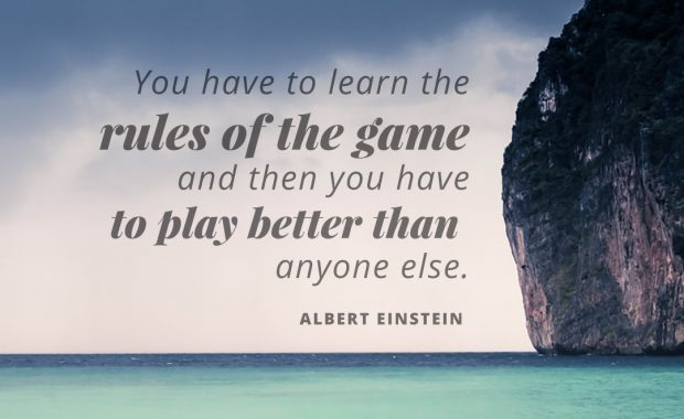 Albert Einstein Quote About The Rules of the Game