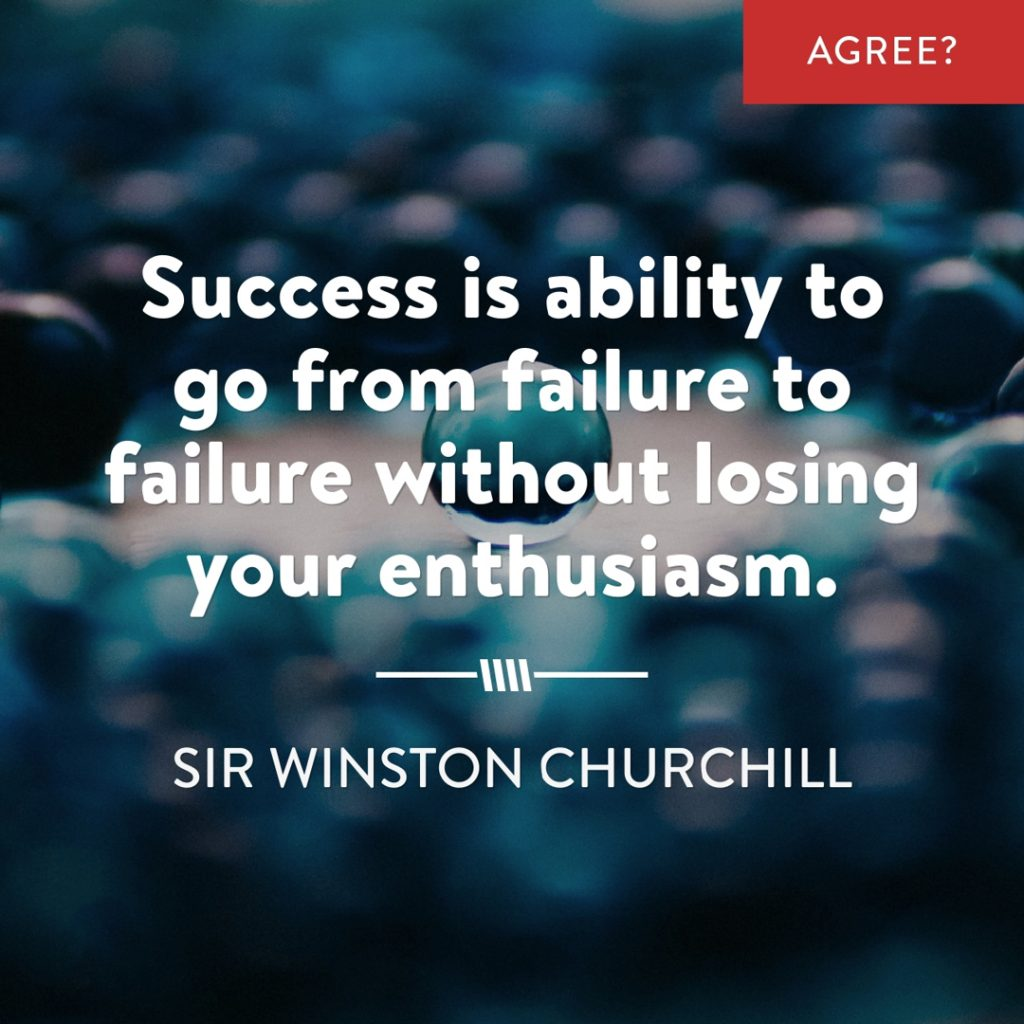 Winston Churchill Quote on Failure and Success