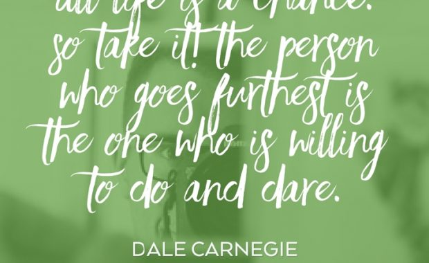 Dale Carnegie Life Quote