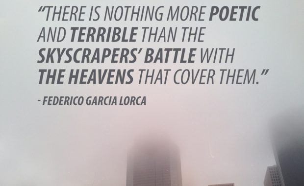 Federico Garcia Lorca on Skyscrapers