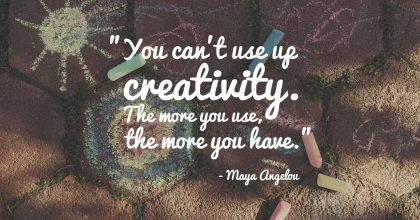 Maya Angelou Quote About Creativity