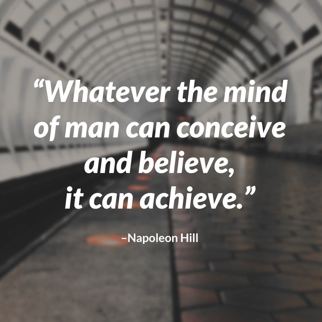 napoleon hill achieve quote