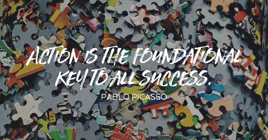 Pablo Picasso Action and Success Quote