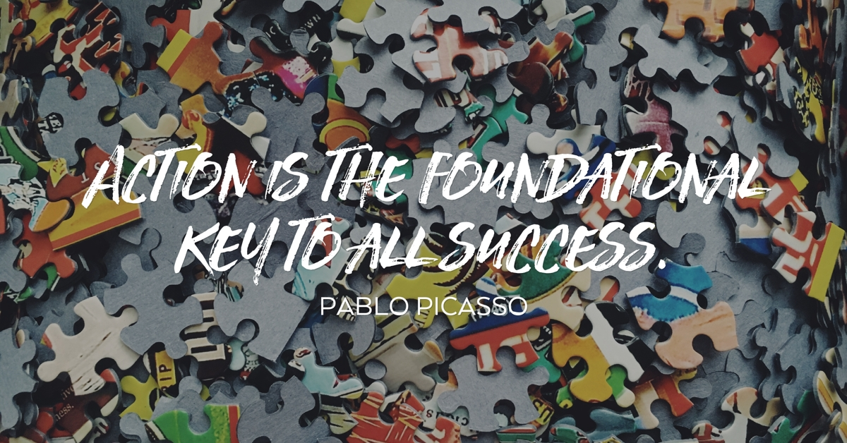 pablo picasso action success quote