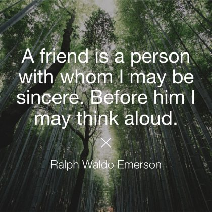 Ralph Waldo Emerson Quote about Friendship