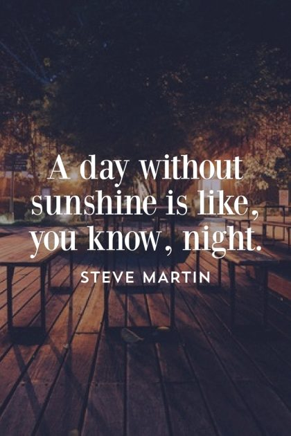 Steve Martin Sunshine Quote