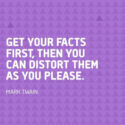 Mark Twain on the Facts