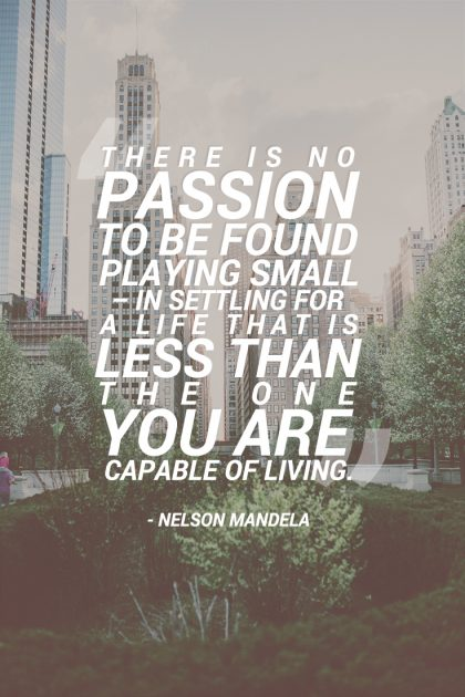Nelson Mandela Passion Quote