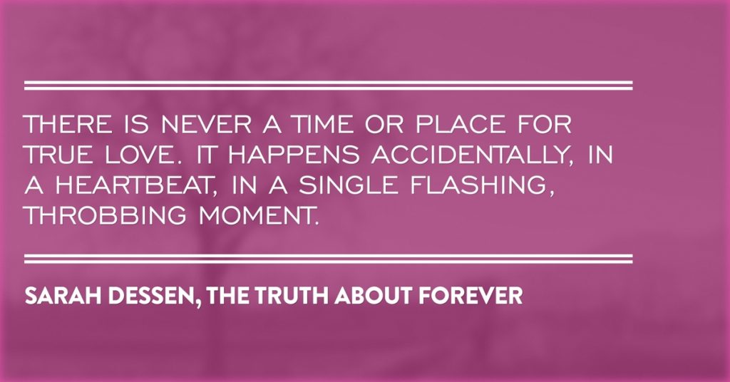 Sarah Dessen on the Time and Place for True Love