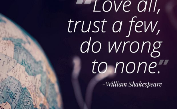 William Shakespeare Life Advice
