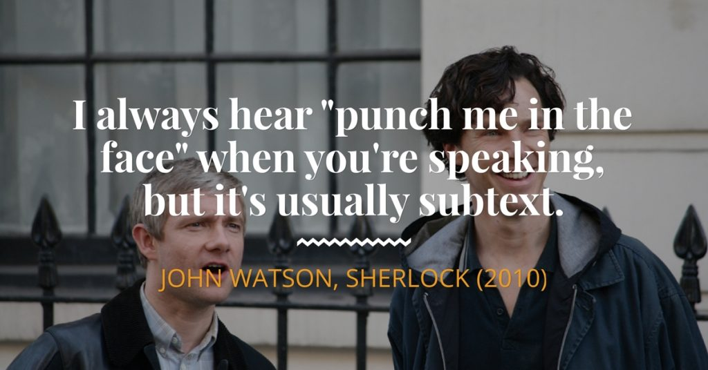 Punch Me In the Face, John Watson