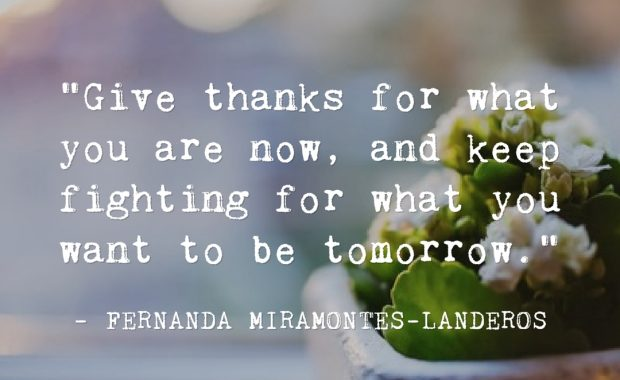 Fernanda Miramontes-Landeros Giving Thanks