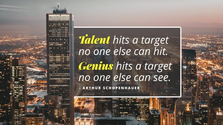 Arthur Schopenhauer on Talent vs. Genius
